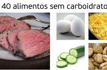 alimentos que contém pouco ou nada de carboidrato
